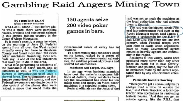 New York Times piece on the 1991 raid