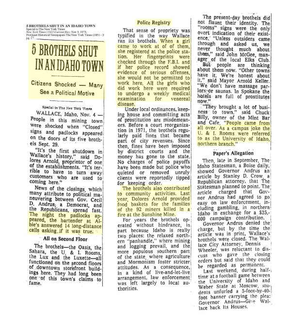 1973 New York Times Article