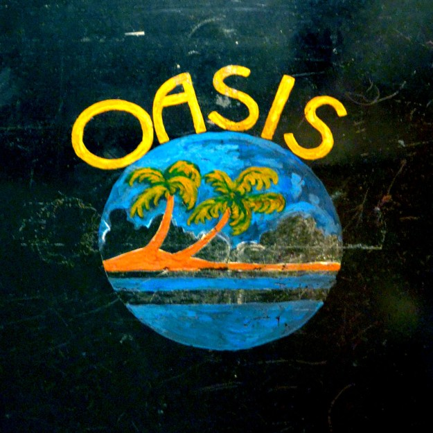 Oasis Door. (Photo by Heather Branstetter, with thanks to Eva Truean and the Bordello Museum)